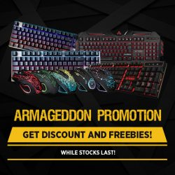 "[TOG] Come and get your Armageddon gaming gears at an affordable price! Get FREE Glove or 17"" MouseMat when you purchase"