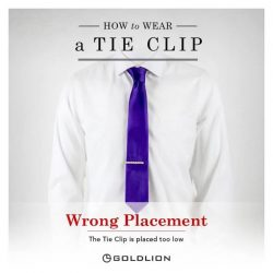 [Goldlion] Do you know how to wear a Tie Clip correctly? There is a proper way to wearing a Tie Clip