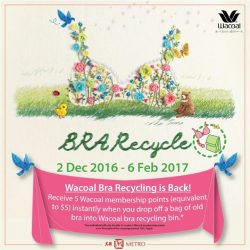 [Metro] Out with the old, in with the new, right ladies? :)Recycle your old bras at Metro from now till 6