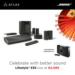 [BOSE] Get the Lifestyle® 535 system now at $4,699 (U.P. $6,199) to enjoy Bose®'s most advanced technologies