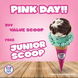 [Baskin Robbins] Show us pink and top up a Junior Scoop for free if you purchase Value Scoop ice cream!! #BaskinRobbins