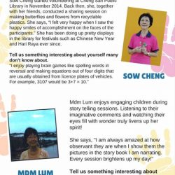[CHENG SAN COMMUNITY LIBRARY] Check out what some of our beloved library volunteers have generously shared about what inspired them to volunteer at the