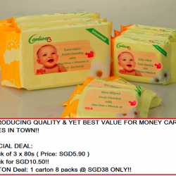 [Nichebabies] INTRODUCING QUALITY & YET BEST VALUE FOR MONEY CARLSON WIPES IN TOWN!!SPECIAL DEAL:1 Pack of 3 x 80s ( Price:
