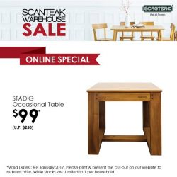 [Scanteak] Get more for less! Grab this STADIG Occasional Table priced at only $99 instead of the usual $229 and add