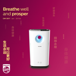 [Philips] Eliminate all odors and pollutants for a safe and allergy-free haven for all visitors young and old, this festive