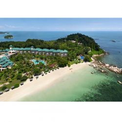 [BANK OF CHINA] A 55-minute ride away from Singapore's Tanah Merah Ferry Terminal, this beachfront resort is the destination for chilled