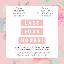 [The Closet Lover] We are down to the last four hours for our CNY Sale! Shop now and thank us later! ;) Quote