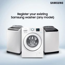 [Samsung Singapore] Register any Samsung washing machine you own to receive a $10 grocery voucher, and stand a chance to win the