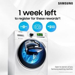 [Samsung Singapore] Our award, your reward!  Celebrate with us the President's Design Award with a $10 shopping voucher, and a chance
