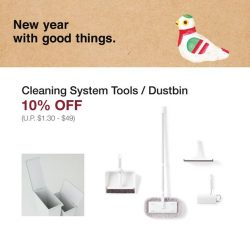 [MUJI Singapore] Cleaning make easy with MUJI Cleaning System designed to be as compact as possible while handling a wide range of