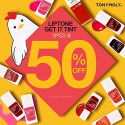 [Tony Moly Singapore] This Chinese New Year Season, get 50% off your second bottle our all time favorite Liptone Get It tone! & 5
