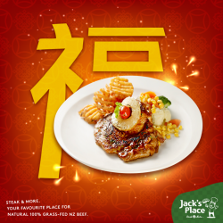 [Jack's Place] Eat to your heart's content, because any of the below five main courses ordered for lunch or dinner now