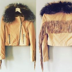[Kandee] To purchase email : Sales@kandeeshoes.com Fur jacket 🙌🏻