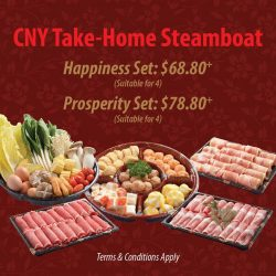 [SUKI-YA] SUKI-YA is thrilled to bring it's special CNY Take-Home Steamboat Set to you! All OCBC Credit & Debit