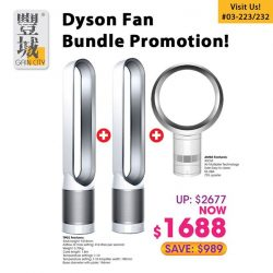 [Gain City] Check out this Dyson fan bundle in our main showrooms today and save $989!