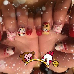 [NAILZ TREATS] Feeling festive🐣🎊🐓 Dress up your nails with this set of cute themed nail design.  Get yours at #nailztreats ☏ us to