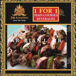 [The King Louis Bar & Grill] Who wouldn't love this Main Course made with Australian Premium Lamb and Grilled with Arabian Spices! Guess the name