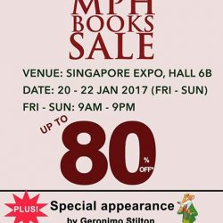 [MPH] Usher the New Year with MPH Books Sale from 20 - 22 January, Singapore Expo Hall 6B! Don't miss the