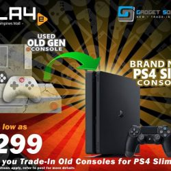 [GAME XTREME] Trade-In to PS4 Slim Promo: Now - 31/1/17Still have old consoles sitting around at home collecting dust?