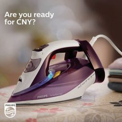 [Philips] Iron out the wrinkles from your festive wardrobe with the Philips PerfectCare AzurSteam Iron.The OptimalTemp technology gives the perfect