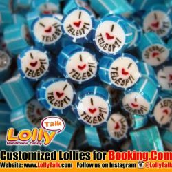 [Lolly Talk] LollyTalk's handcrafted lollies for Booking.com!! LollyTalk also provides personalised packagings for various marketing needs such as roadshow giveaways,