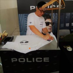 [Trendy Eyes] Stamp Your Style is now live at the POLICE booth at Temasek Polytechnic! Get a free t-shirt and create