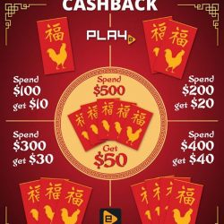 [PLAYe] Usher into the Lunar New Year with the return of PLAYe's Cashback. Buy from the PLAYe App today, and