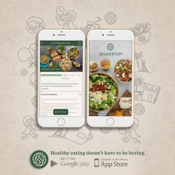 [Salad Stop] Have you downloaded the app yet? #saladstop #eatwideawakeapp #trustfoodagain #rewards