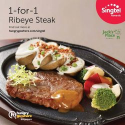 [Singtel] Exclusive for Singtel Customers! Indulge this month with 1-for-1 Ribeye Steak (worth $23.80) at Jack's Place!