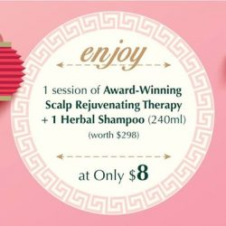 [Oriental Hair Solution] Don't miss our #promotions with a session of Award-Winning Scalp Rejuvenating Therapy and get a Herbal Shampoo (240ml)
