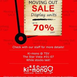 [Ki-mono] We will be moving out of our outlet @ The Star Vista real soon! And, we'll be clearing all the