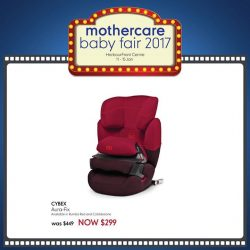 [Mothercare] We have the best carseat range in Singapore! Shopping for carseats have never been easier when there's a wide