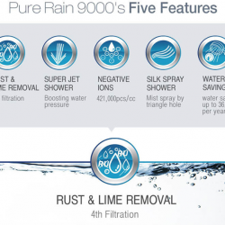 [Nichebabies] Pure Rain Clean Refreshing Powerful Healthy Shower Head (PR-9000) Showerhead Is CLEAN!! Is Powerful and Save Water! Is Refreshing