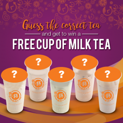"[Each A Cup] Satisfy your craving for Milk Tea for Free!  Imagining the delectable, luscious rich taste gliding down your throat.""Each-A-"