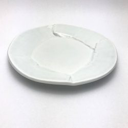 [Spin] Green White Free Cut Round Plate