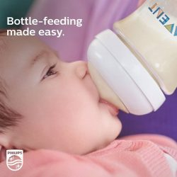 [Philips] Switch from breast to bottle feeding with ease, thanks to the Philips Avent Natural Baby Bottle.The bottle is developed