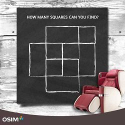 [OSIM] Remember squares only, rectangles don't count! #ActiveMindHealthyLifestyle