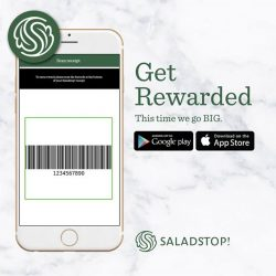 [Salad Stop] Scan the barcode at the bottom of your receipt to collect your stamp!#saladstop #eatwideawakeapp
