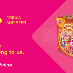 [NTUC FairPrice] Let your CNY preparation be hassle free. Leave the heavy lifting of cartons of drinks to us. Simply add your