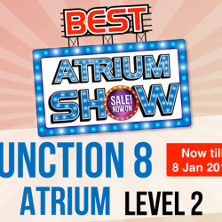[Best Denki] Visit our Atrium Show at Junction 8 (Level 2) for the most electrifying deals! Check out Samsung TV, AV products &