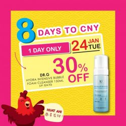 [Sasa Singapore] Few more #HUAT Beauty Deals till it's all over! #5 involves one of our hot pick in store; #DrG