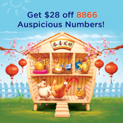 [M1] Make your Lunar New Year a truly prosperous one with our newly available 8866 Auspicious Numbers!What's more, enjoy $