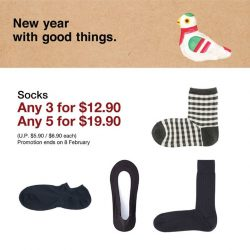 [MUJI Singapore] Right-angle and many more, shop the wide variety of socks now with bundle promotion till 8 February!