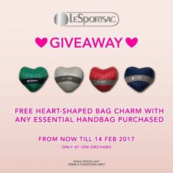 [LeSportsac] FREE HEART-SHAPED BAG CHARM ❤GIVEAWAY❤ With any Essential Handbag PurchasedFrom NOW till 14 Feb 2017 Only at ION