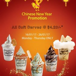 [HoneyCreme Singapore] Countdown-5Days to CNY!!! Usher in the Year of the Rooster with Good Soft Serve at Great Value, Here at