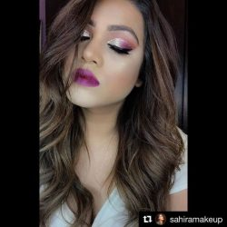 [Jose Eber] Flawless waves 😍#Repost @sahiramakeup ・・・ Managed to squeeze in one glittery New Year's Eve makeup with bold lips video! Been