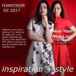[Forntieer] FNT SS 2017 - Inspiration + Style20.17% off on purchase above $50/-. Use Coupon Code : 2017 6 month free postage