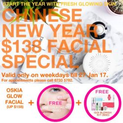 [Bud Cosmetics] Welcome the New Year with a more radiant and clearer skin! Enjoy our signature OSKIA Glow Facial for only $138 (