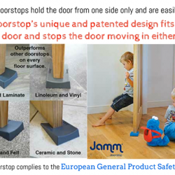 [Nichebabies] SAVE YOUR FINGERS, SHIELD YOUR DOORS!New Arrivals!! Introducing Jamm® Doorstop - protecting little fingers! Made in Great Britain!Over 60,