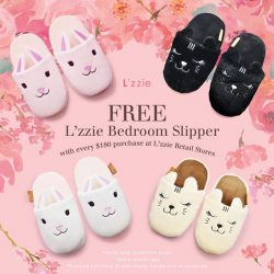 [L'zzie] Happy Lunar New Year ~~ Make room for these super comfy and adorable bedroom slippers with purchase of $180 and above